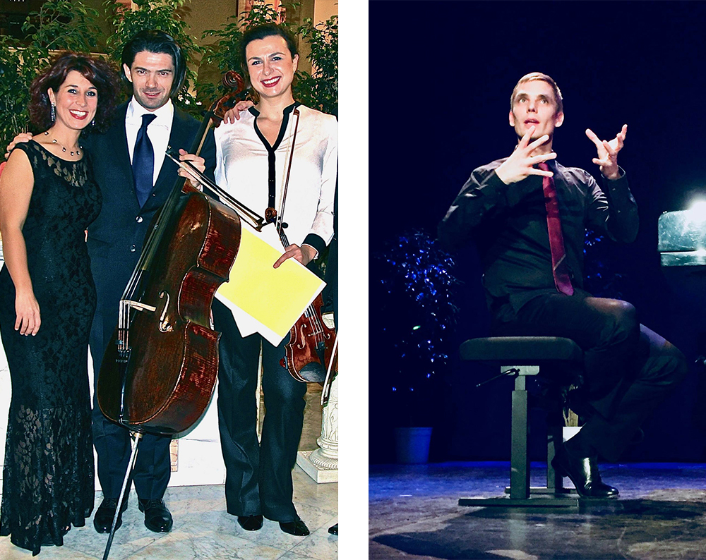 Lilya Zilberstein Cédric Tiberghien - Artistes - Allegro Amabile Cannes - Concert Moment musicaux